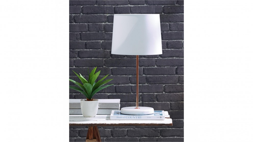 Mac White Table Lamp