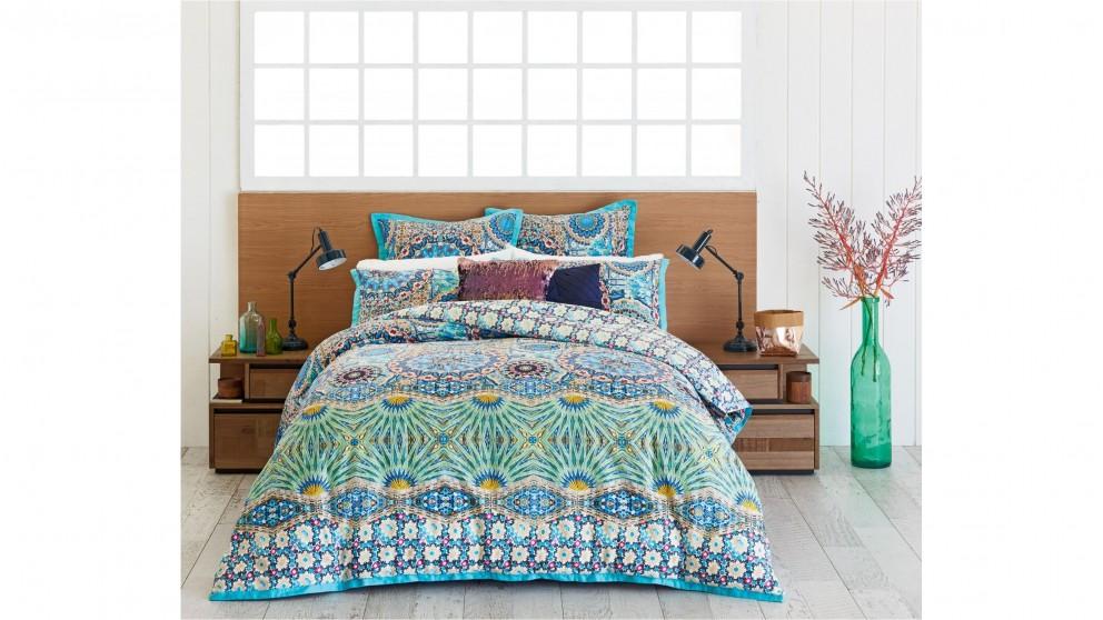 Mandalay Aqua King Quilt Cover Set