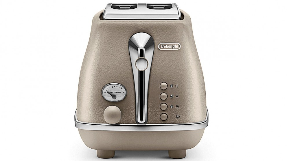 DeLonghi Icona Elements 2 Slice Toaster - Beige