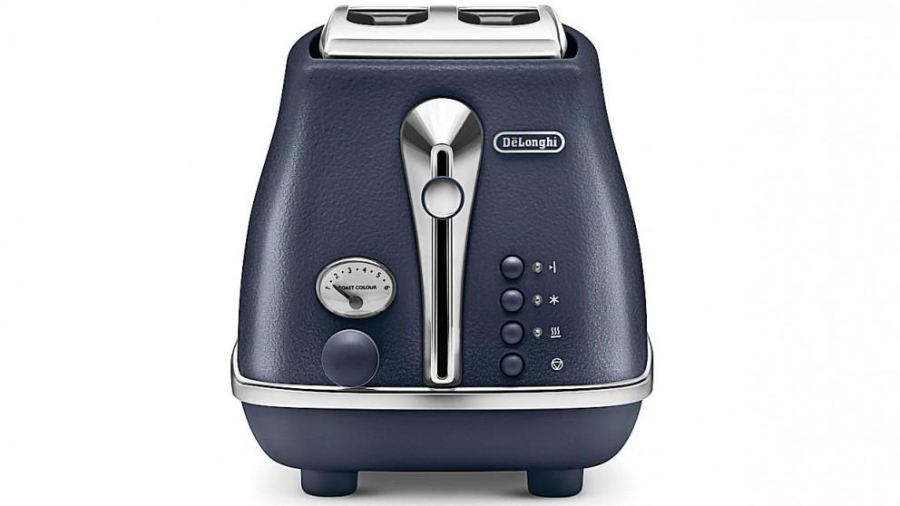 DeLonghi Icona Elements 2 Slice Toaster - Blue