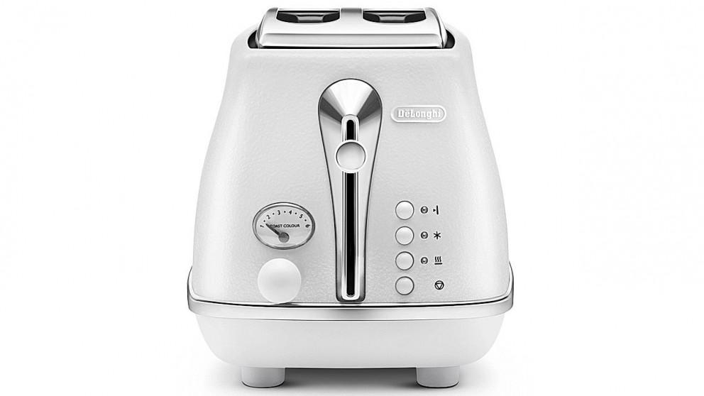 DeLonghi Icona Elements 2 Slice Toaster - White