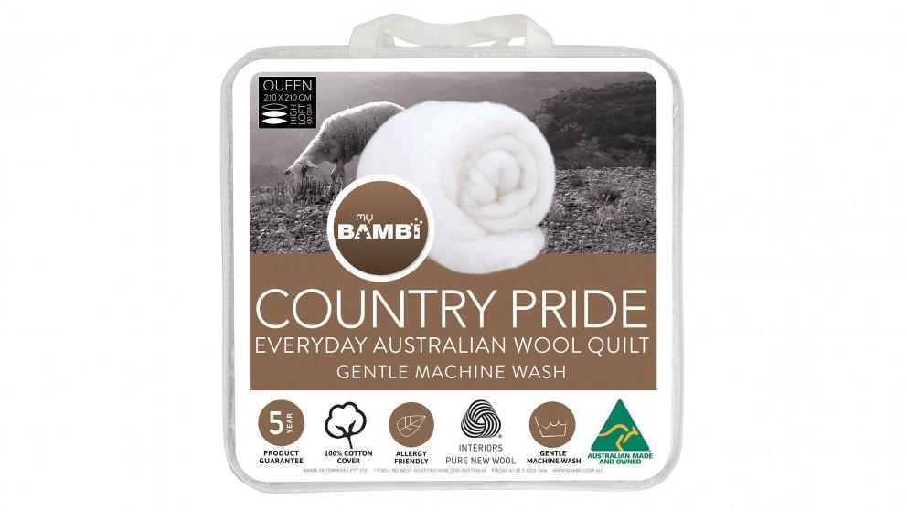 Country Pride Light Loft Wool Queen Quilt