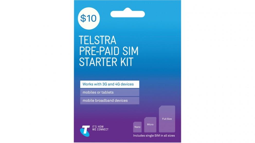 Telstra $10 Pre-Paid SIM Starter Kit