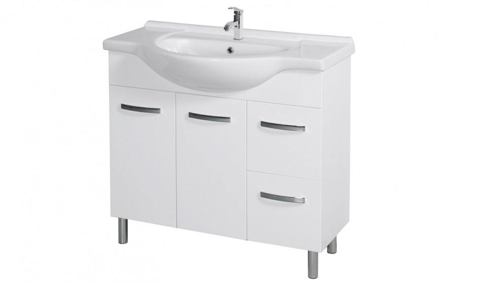 Vanity Bathroom Harvey Norman cartia lauren 900mm waterproof right hand drawer vanity - bathroom