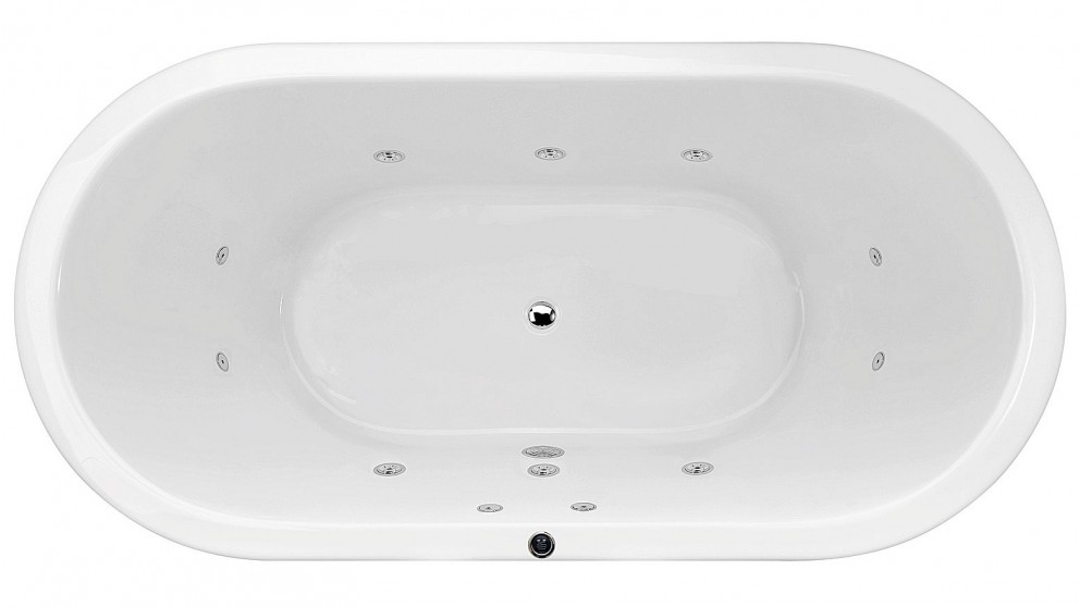 Buy Decina Miami 1800mm Freestanding Spa Bath - Chrome Jets | Harvey ...