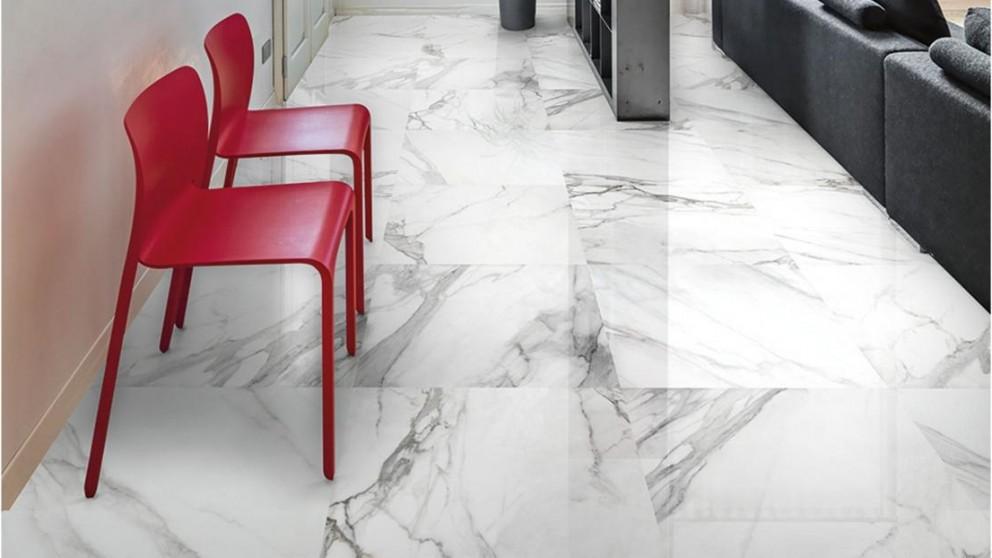 Statuario 300x300mm Polished Porcelain Tile