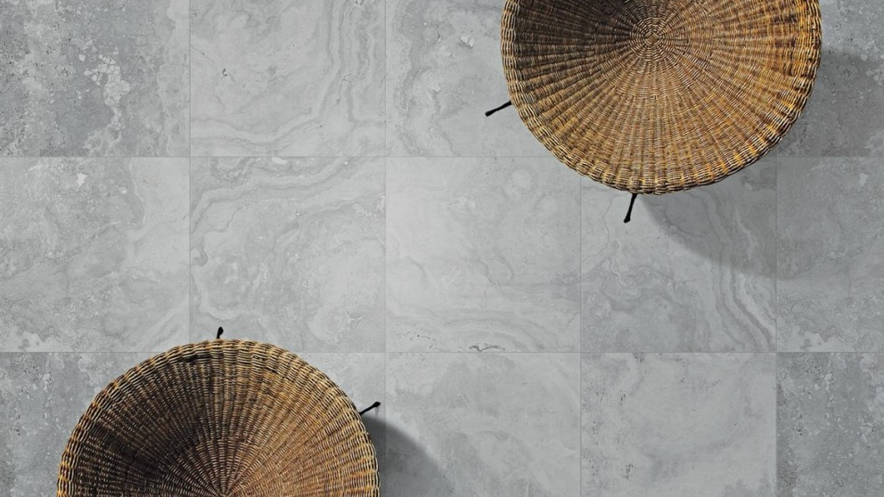Tivoli 300x300mm Platinum Travertine Tile
