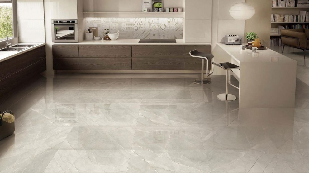 Euro Marble Persian Grey 600x600mm Glazed Polished Porcelain Tile