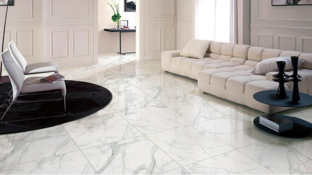 Euro Marble Calacatta Gold 900x900mm Glazed Polished Porcelain Tile