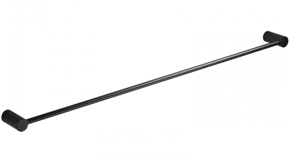 PLD Oasis Matte Black 900mm Single Towel Rail
