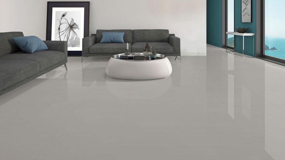 Contemporary 600x600mm Light Grey Polished Porcelain Tile