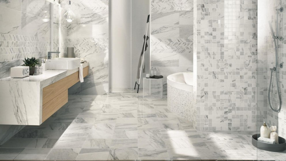 Buy Imperial Calacatta Bianco 600x600mm Porcelain Tile