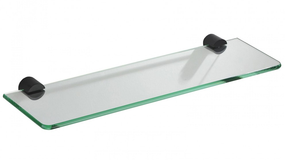 PLD Oasis Matte Black Glass Shelf