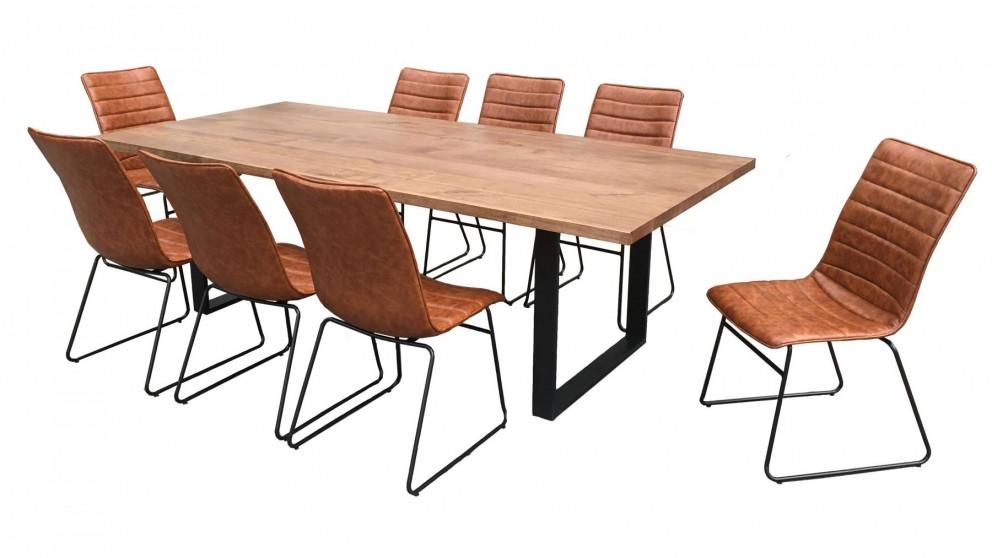 Strand 9-Piece Rectangular Dining Setting - Tan