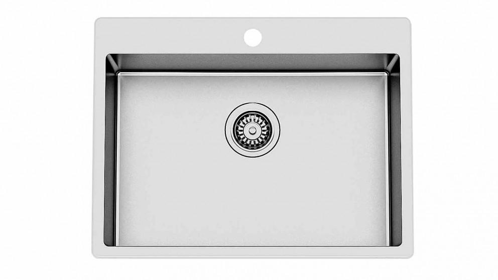 Caroma Compass 45L Flushline Laundry Tub 1-Tap Hole