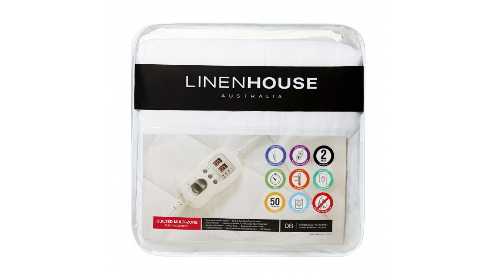 Linen House Quilted Electric Blanket - Double
