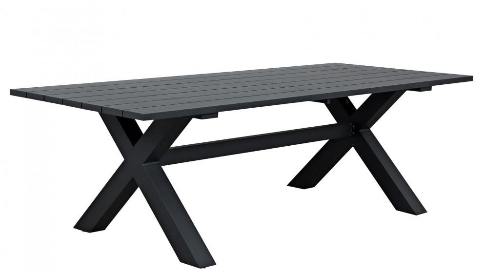 a84edfa2c2cb Buy Floret Outdoor Rectangular Dining Table - Gunmetal | Harvey Norman AU