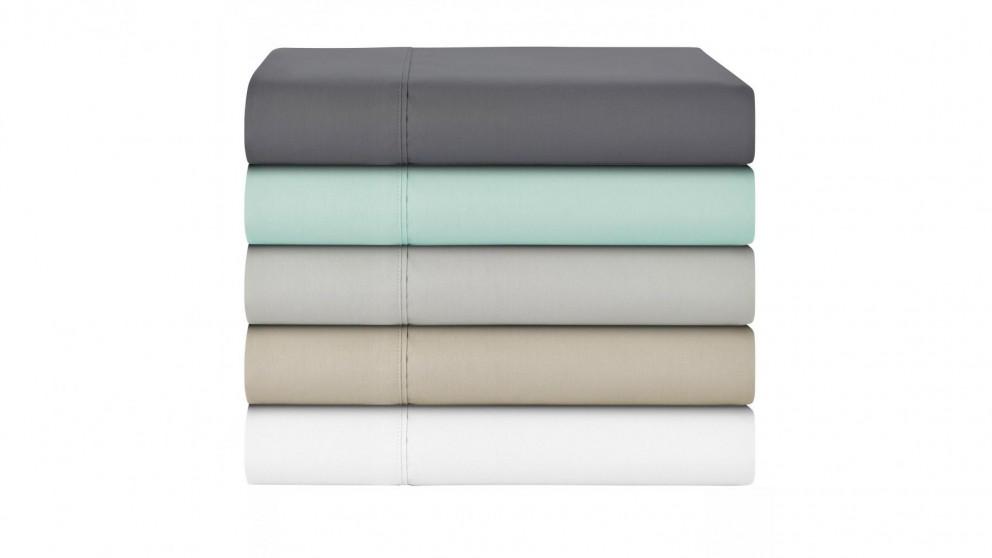 L'Avenue 300 Thread Count Single Sheet Set - Charcoal