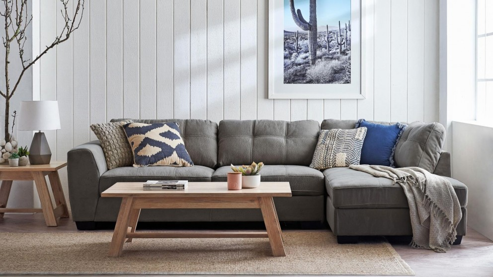 Buy Charlotte 3-Seater Sofa with Chaise | Harvey Norman AU