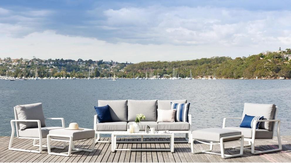 Bon 6-Piece Outdoor White Lounge Setting