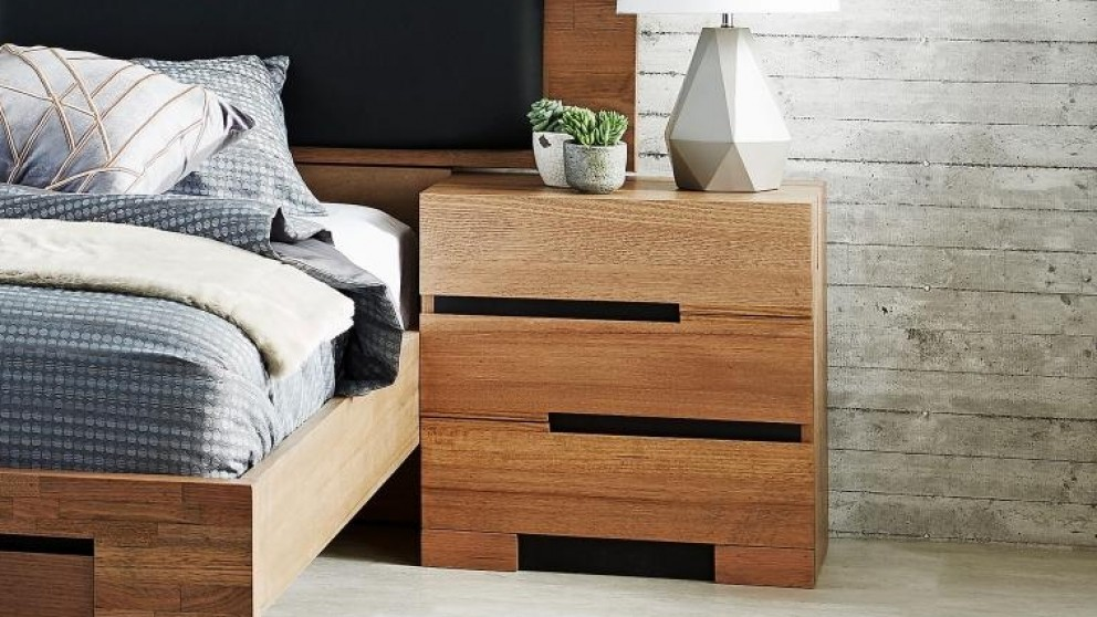 blaxton 3 drawer bedside table