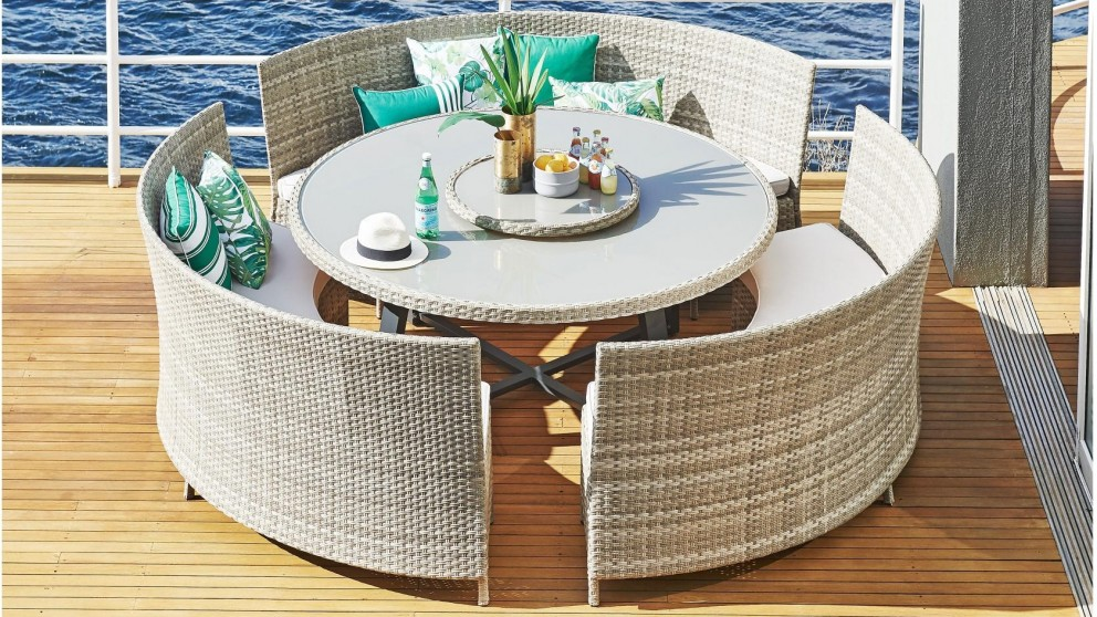 Hudson 5 Piece Outdoor Dining Setting