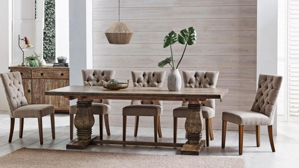 Buy nebraska 9 piece rectangular dining suite harvey - Harvey norman living room furniture ...