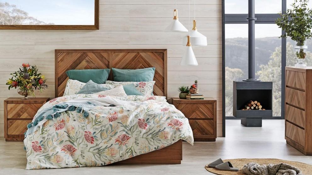 Buy Herringbone Queen Bed Harvey Norman Au
