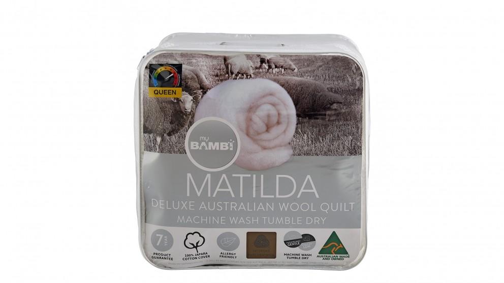 Matilda Woolmark Gold Label All Seasons Duo Quilt