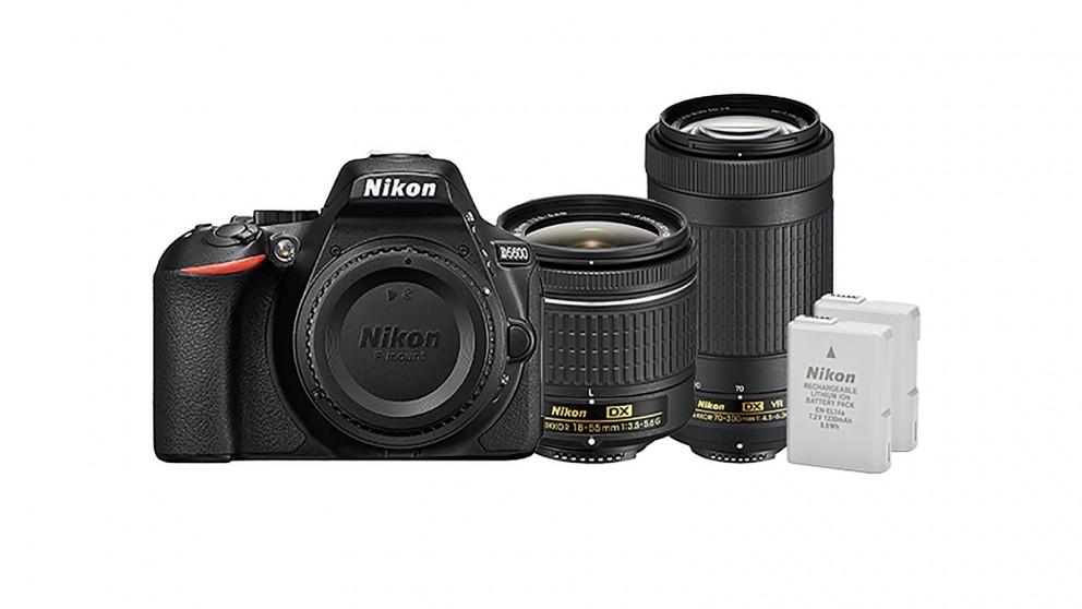 Hot Deals Nikon D5600 DSLR Camera With 18 55mm And 70 300mm Lens Kit