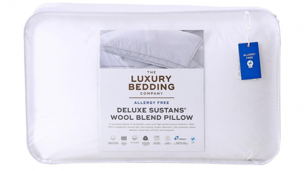 The Luxury Bedding Company Deluxe Sustans/Wool Pillow
