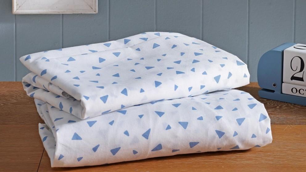 Blue Triangles Sheet Set