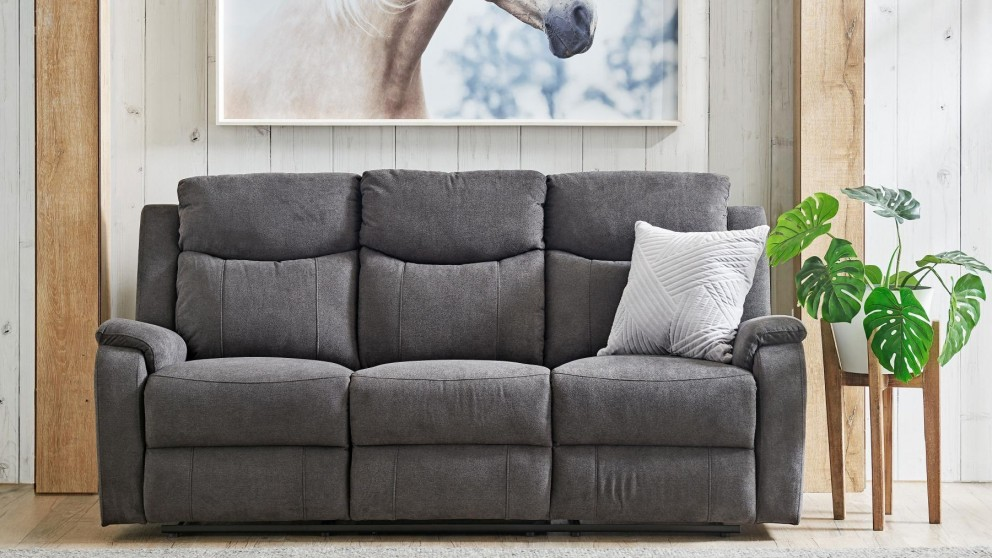 buy gatwick 3 seater fabric sofa harvey norman au. Black Bedroom Furniture Sets. Home Design Ideas
