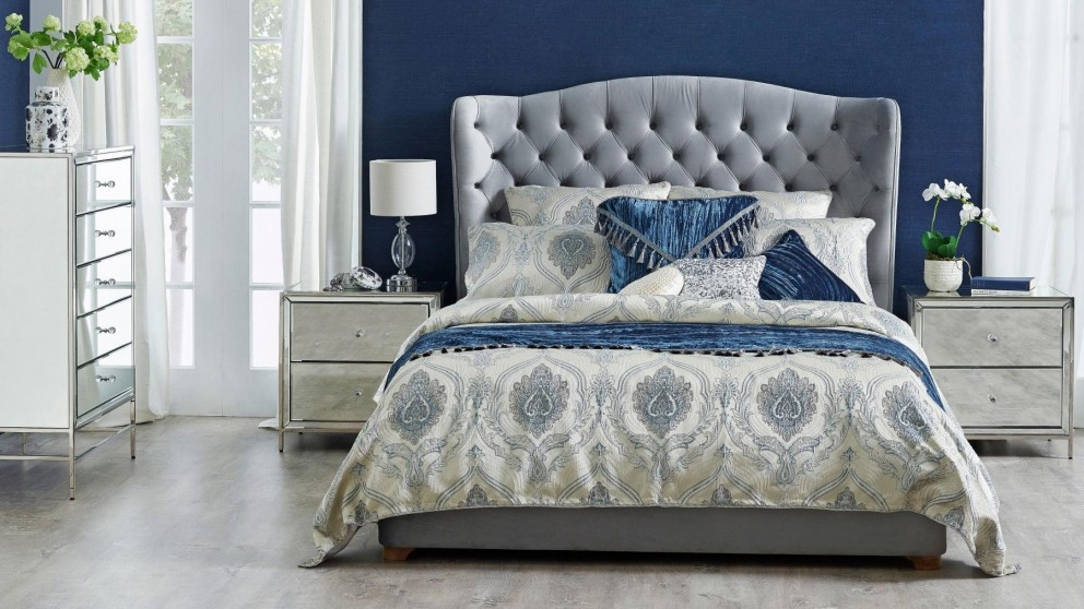 Moreno Champagne Queen Quilt Cover Set