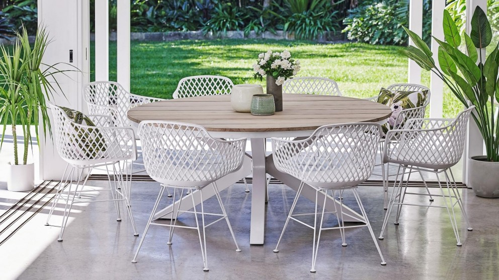 Aro 9-Piece Outdoor Dining Setting