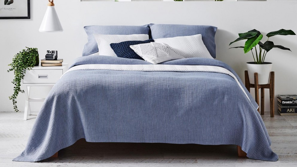 Dash Chambray Coverlet Set
