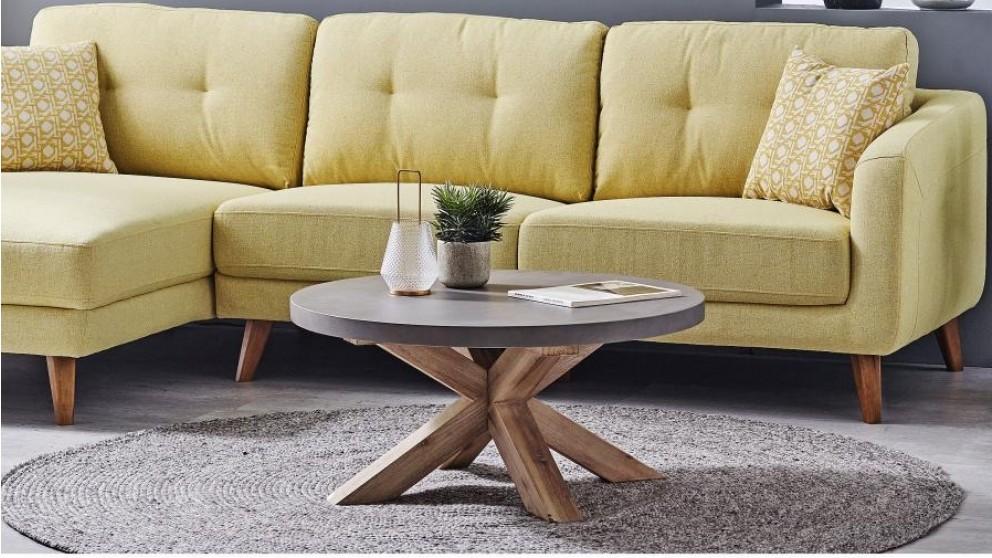Charleston Round Coffee Table - Grey