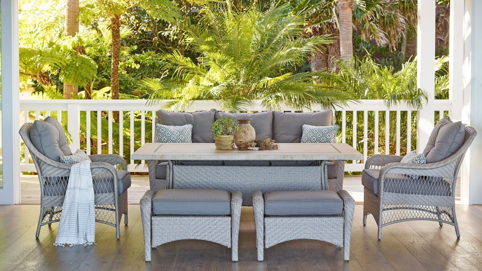 Barbuda 6-Piece Outdoor Rectangular Mid-Height Lounge/Dining Setting