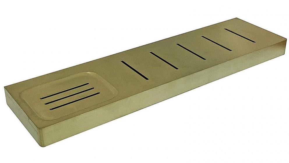 Arcisan Zara Shelf with Soap Dish - Brushed Brass