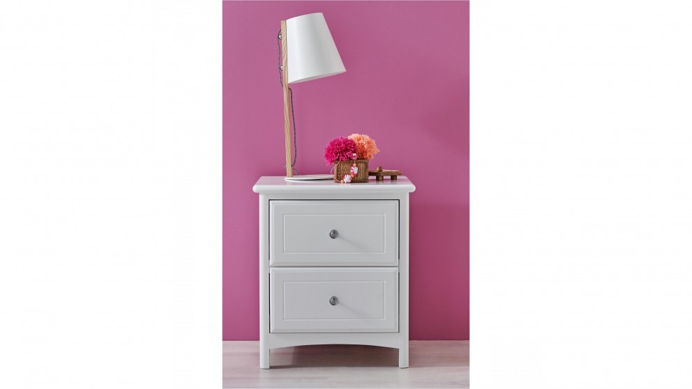 Hayley 2-Drawer Bedside Table