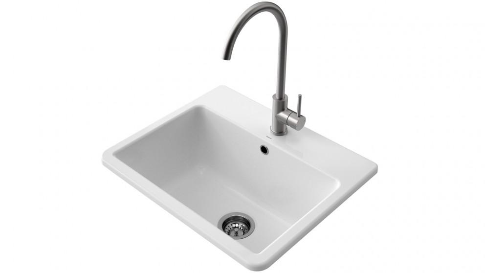 Caroma Cubus Ceramic Laundry Tub 1-Tap Hole