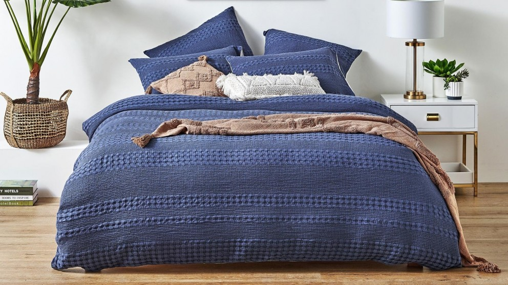 Bennett Navy Quilt Cover Set