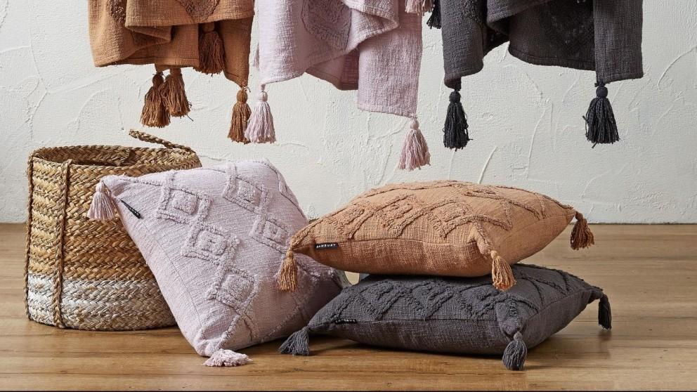 Argyle Charcoal Cushion