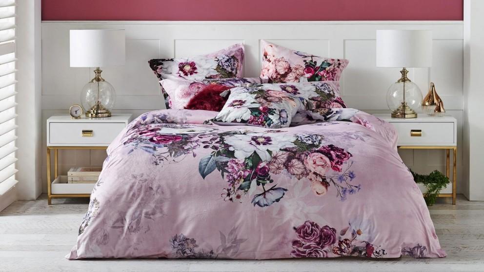 Swinton Pink Quilt Cover Set - Queen