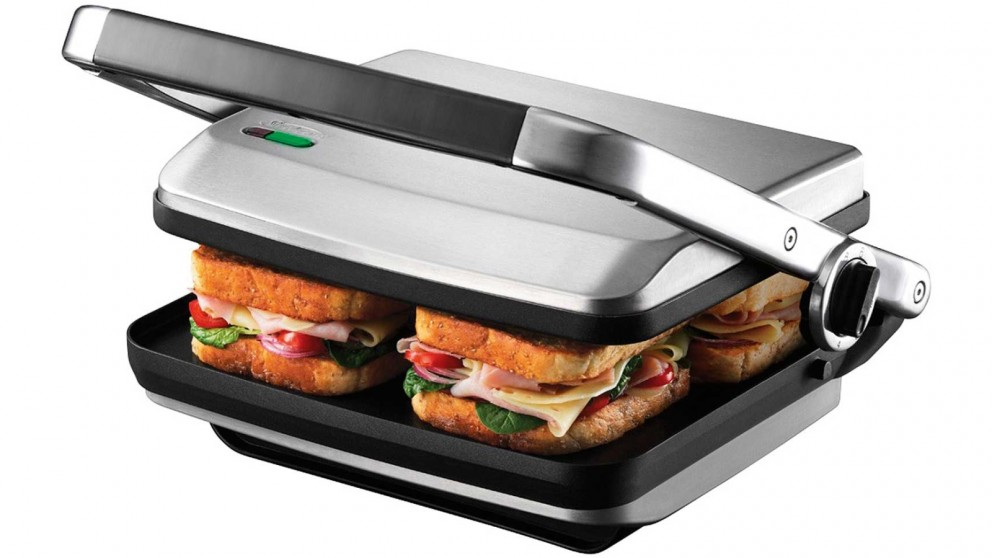 Buy Sunbeam Cafe Press Brushed 4 Slice Sandwich Maker