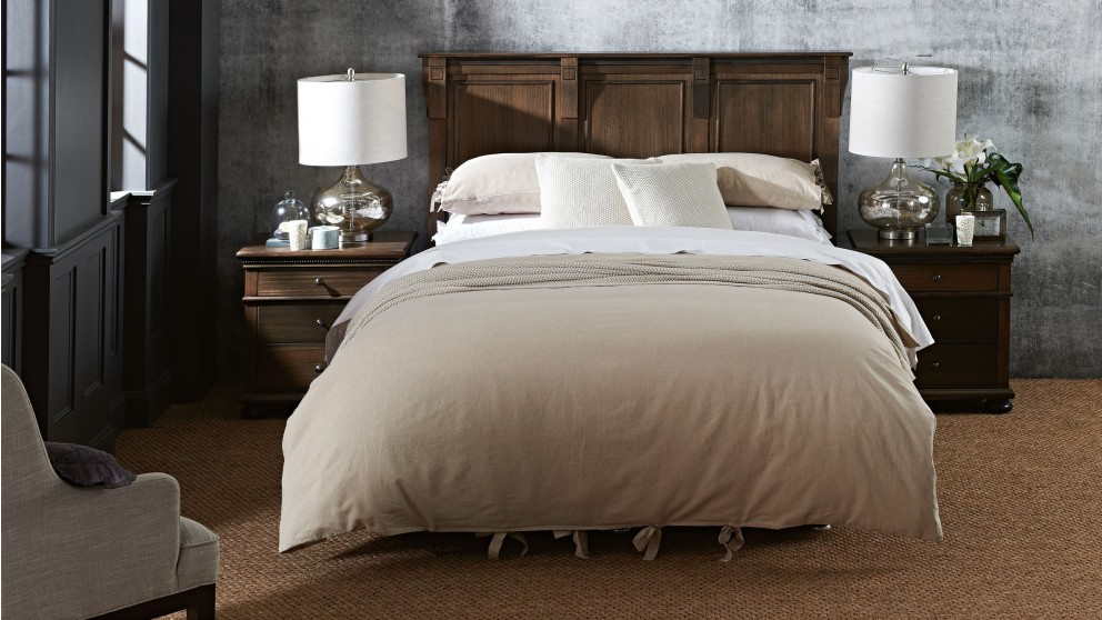 Grayson Natural Queen Quilt Cover Set