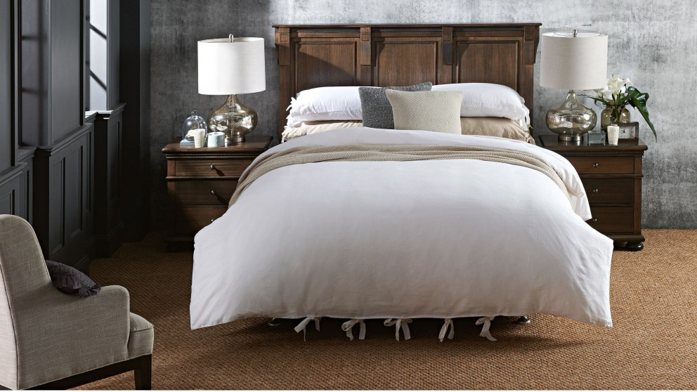Grayson White Quilt Cover Set - Queen