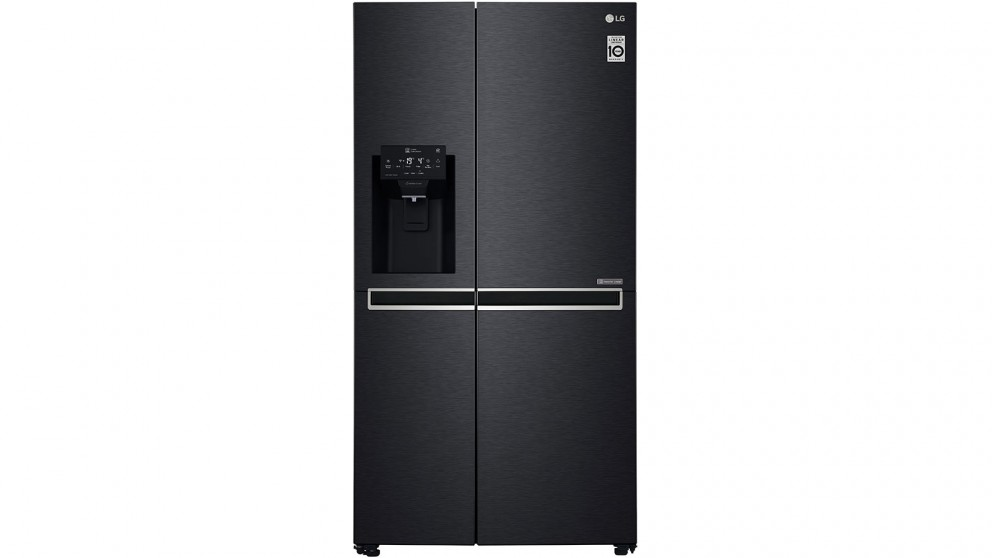 LG 668L Side By Side Fridge with Non-Plumbed Ice & Water Dispenser - Matte  Black