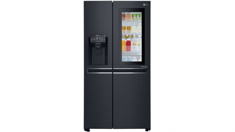 LG 665L Side By Side Fridge with InstaView Door-in-Door - Matte Black