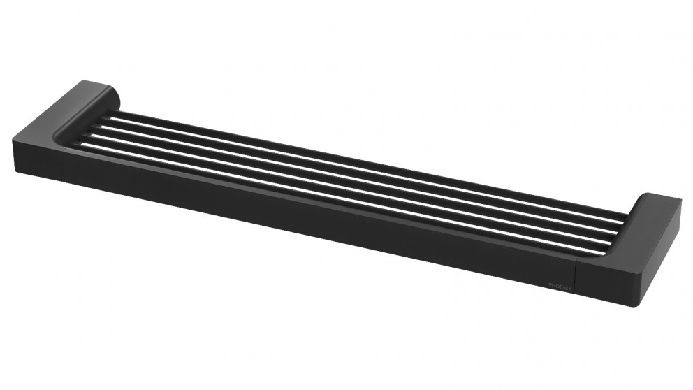 Phoenix Gloss Shower Shelf  - Matte Black